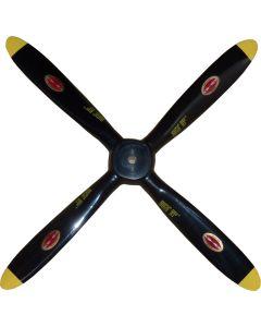 """Biela 14"""" x 14"""" Carbon Fiber Scale 4 Blade Corsair Prop BA4SB-14014"""