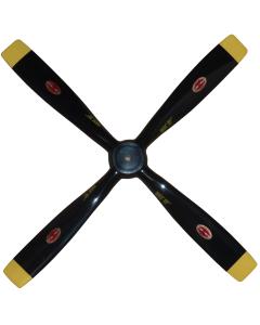 """Biela 15"""" x  9"""" Carbon Fiber Scale 4 Blade Mustang Prop BA4SQB-1509"""